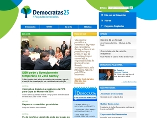 Thumbnail do site Partido Democratas (DEM)