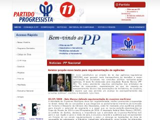 Thumbnail do site Partido Progressista (PP)