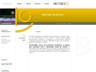 Thumbnail do site netDEZ - Web design