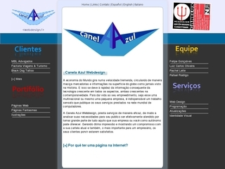 Thumbnail do site Canela Azul Webdesign