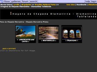 Thumbnail do site Imagens da Chapada Diamantina
