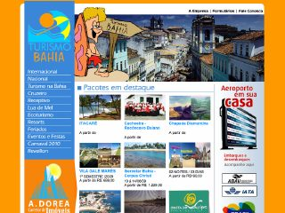 Thumbnail do site Turismo Bahia