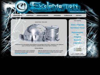 Thumbnail do site Exclamation - Desenvolvimento Web