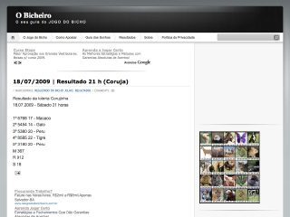 Thumbnail do site O Bicheiro
