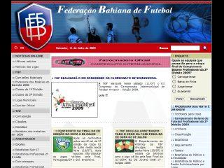 Thumbnail do site F.B.F. - Federação Baiana de Futebol