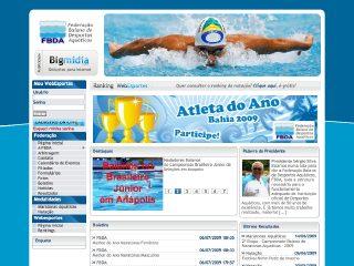 Thumbnail do site F.B.D.A. - Federação Bahiana de Desportos Aquáticos