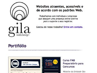 Thumbnail do site Gila Webdesign